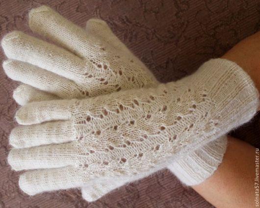"""Варежки, митенки, перчатки ручной работы. Ярмарка Мастеров - ручная работа. Купить Перчатки """"Белый снег"""". Handmade. Белый"""