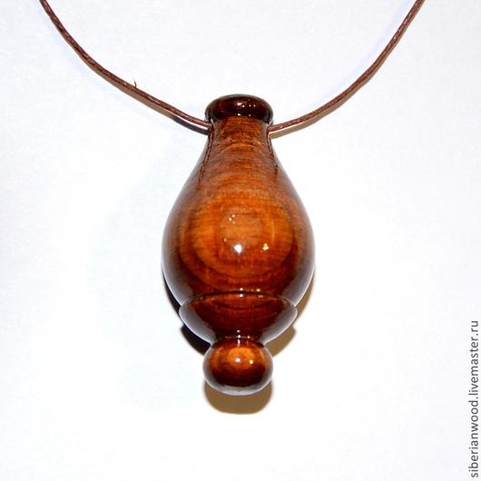 Кулоны, подвески ручной работы. Ярмарка Мастеров - ручная работа. Купить Деревянный кулон Аромакулон из натурального дерева (Сосна). Handmade.