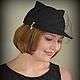 """Шляпы ручной работы. Ярмарка Мастеров - ручная работа. Купить Кепка """"Кошка"""" с вуалью черная. Handmade. Черный, шапка с ушками"""