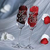 Свадебный салон handmade. Livemaster - original item Personalized wedding glasses for shampanskogo. Handmade.