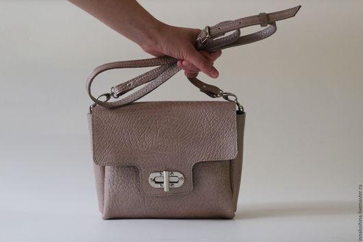 Женские сумки ручной работы. Ярмарка Мастеров - ручная работа. Купить Женская сумочка на ремешке через плечо, модель ALEX. Handmade.