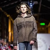 Мужская одежда handmade. Livemaster - original item Felt jacket made of natural wool, 44-48 p.. Handmade.