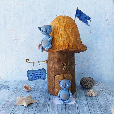 Dolls & toys handmade. Livemaster - original item The house, in the Street of Happy Cats. Handmade.