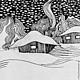 Фантазийные сюжеты ручной работы. Луна. Олеся Тарасова (o-lissa). Ярмарка Мастеров. Луна, пейзаж, узор, символ, лицо