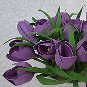 """Цветы и флористика ручной работы. Ярмарка Мастеров - ручная работа Кашпо """"Крокусы фиолетовые"""". Handmade."""