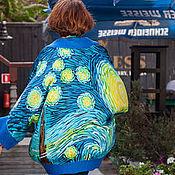 Одежда ручной работы. Ярмарка Мастеров - ручная работа Кардиган и блуза по мотивам картин Ван Гога Starry night Van Gogh. Handmade.