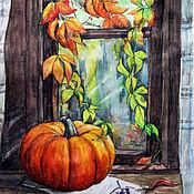 Картины и панно ручной работы. Ярмарка Мастеров - ручная работа Осень - яркая пора. Handmade.
