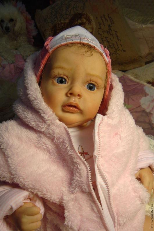 Куклы-младенцы и reborn ручной работы. Ярмарка Мастеров - ручная работа. Купить Милашка Хлоя.. Handmade. Бежевый, мохер Германия