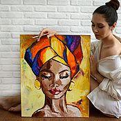Картины ручной работы. Ярмарка Мастеров - ручная работа Картины: Африканка. Handmade.