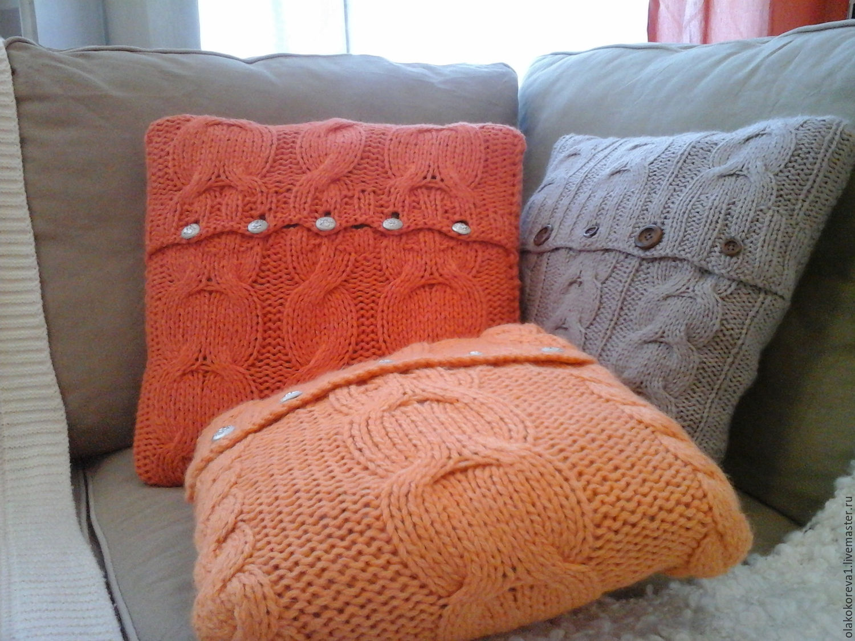 Вязание на диванную подушку