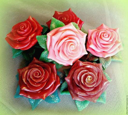 Мыло ручной работы. Ярмарка Мастеров - ручная работа. Купить Мыло Роза. Handmade. Комбинированный, букет роз, глицерин