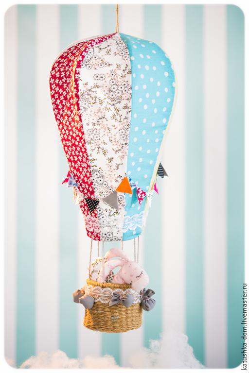Техника ручной работы. Ярмарка Мастеров - ручная работа. Купить Воздушный шар. Handmade. Воздушный шар, корзина плетеная