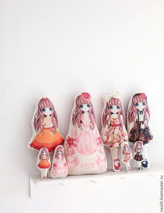 Шитье ручной работы. Ярмарка Мастеров - ручная работа. Купить Куклы  Хлопок цифровая печать. Handmade. Комбинированный, бесплатная доставка