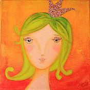 """Картины и панно ручной работы. Ярмарка Мастеров - ручная работа Картина """"Принцесса Карамелька"""". Handmade."""