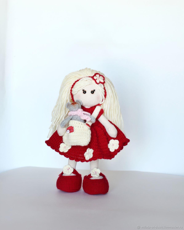 Кукла вязаная кукла крючком, Куклы Тильда, Жуковский,  Фото №1