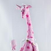 """Куклы и игрушки ручной работы. Ярмарка Мастеров - ручная работа Жираф """"Романтичное настроение"""" -  текстильная игрушка в стиле """"тильда. Handmade."""