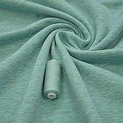 Ткани ручной работы. Ярмарка Мастеров - ручная работа Футер 3-х нитка диагональ, МЕНТОЛ МЕЛАНЖ. Handmade.