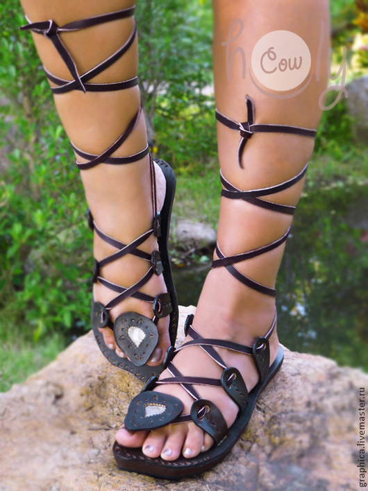 """Обувь ручной работы. Ярмарка Мастеров - ручная работа. Купить Кожаные сандалии """"Crazy Sexy"""". Handmade. Коричневый, обувь для улицы"""