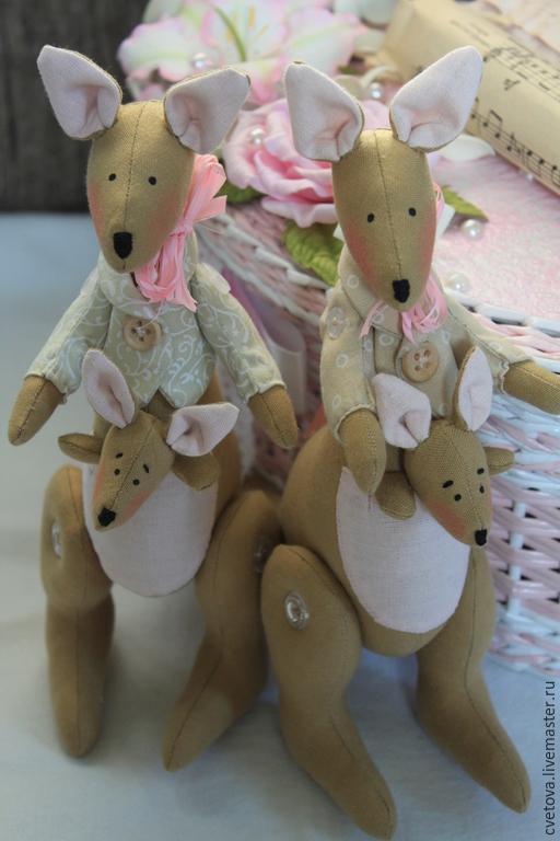Куклы Тильды ручной работы. Ярмарка Мастеров - ручная работа. Купить Тильда кенгуру. Handmade. Кенгуру, синтепух