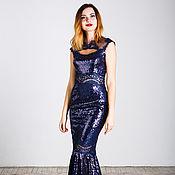 Одежда ручной работы. Ярмарка Мастеров - ручная работа Синее платье-трансформер. Handmade.
