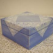 """Для дома и интерьера ручной работы. Ярмарка Мастеров - ручная работа Чайная коробка """"Кружево"""". Handmade."""
