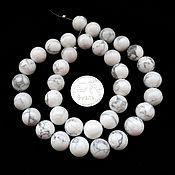 Материалы для творчества ручной работы. Ярмарка Мастеров - ручная работа Кахолонг 36 камней набор белый бусины гладкий шар 10 мм. Handmade.