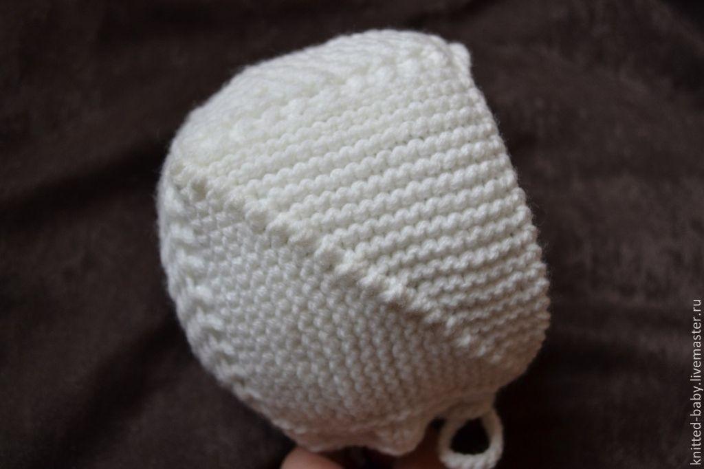 Вязание чепчика спицами с пошаговым 94