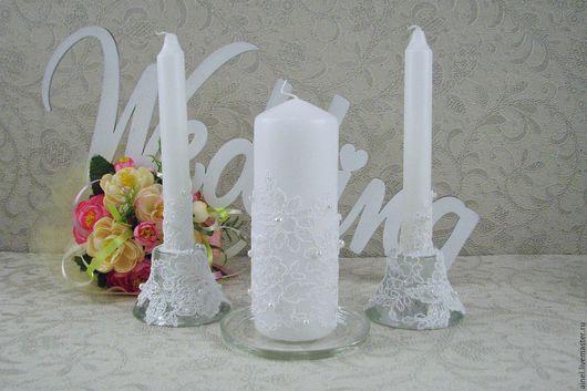 Свечи свадебные Домашний очаг «Неаполь» белый
