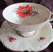 Винтаж handmade. Livemaster - original item Fine Tea pair Germany Schumann EXT.,. Handmade.