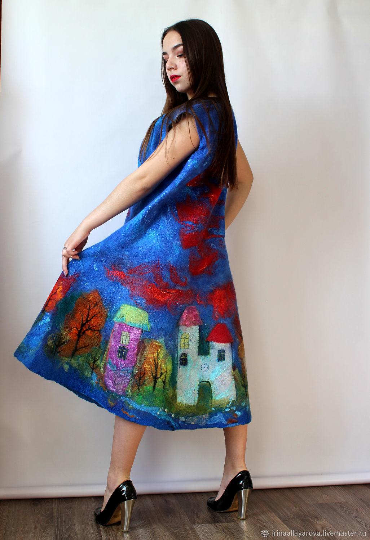 Felted dress 'City', Dresses, Verhneuralsk,  Фото №1