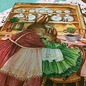 """Для дома и интерьера ручной работы. Ярмарка Мастеров - ручная работа Короб-пенал """"Зайцы"""". Handmade."""