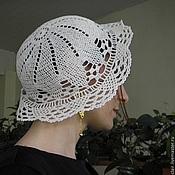 Аксессуары ручной работы. Ярмарка Мастеров - ручная работа Шляпа кружевная , связанная крючком. Handmade.