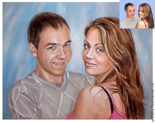 Портрет пастелью с фотографии на заказ\r\n40х50 см\r\nМатериалы: сухая пастель, бумага для пастели, лак-фиксатив\r\nРучная работа