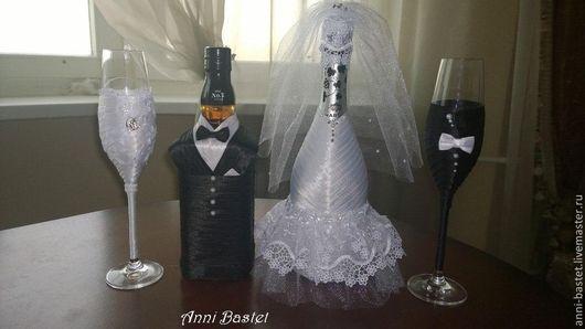 Свадебные аксессуары ручной работы. Свадебный набор `Мадам и Месье`. Авторская студия `AnnaBastet`. Ярмарка Мастеров.