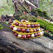 Украшения handmade. Livemaster - original item A charm bracelet made of Jasper, and Mukai in the style of Chan Luu. Handmade.