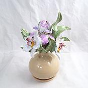 Для дома и интерьера handmade. Livemaster - original item Aroma diffuser Bouquet of orchids and iris. Handmade.