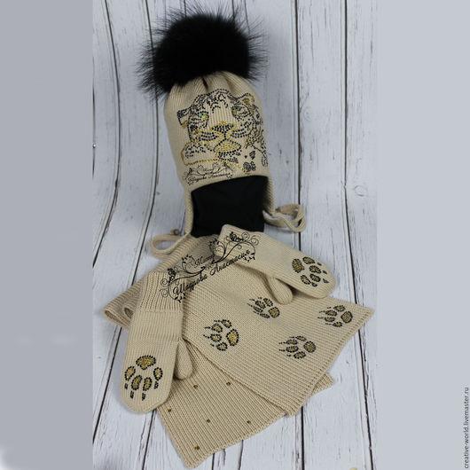 Шапки и шарфы ручной работы. Ярмарка Мастеров - ручная работа. Купить теплая мериносовая шапочка. Handmade. Детские шапочки