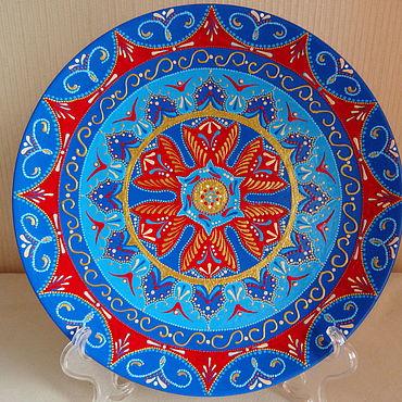 Посуда ручной работы. Ярмарка Мастеров - ручная работа Декоративная тарелка Яркая личность. Handmade.