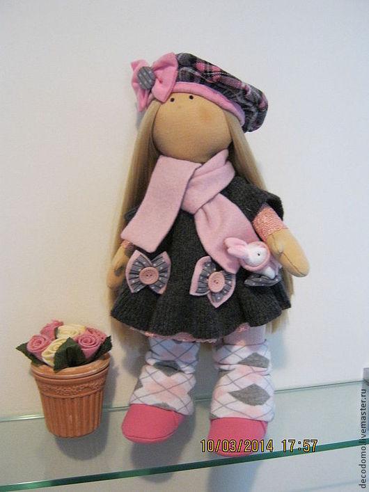 Коллекционные куклы ручной работы. Ярмарка Мастеров - ручная работа. Купить Текстильная кукла МОНИКА. Handmade. Бледно-сиреневый