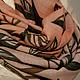 Шерстяной снуд-шарф батик `Листья апельсина`. Диана Чентукова. Батик. Diana Chentukova. Batik.