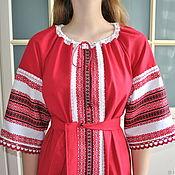 Русский стиль handmade. Livemaster - original item Russian linen dress, In the Slavic style. Handmade.