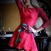 """Одежда ручной работы. Ярмарка Мастеров - ручная работа валяное платье ручной работы""""Gaje"""". Handmade."""