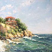 Картины и панно handmade. Livemaster - original item Oil painting seascape Sozopol. Handmade.