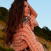 Одежда ручной работы. Ярмарка Мастеров - ручная работа Болеро вязаное крючком  Песочно-кремовое. Handmade.