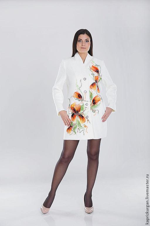 Верхняя одежда ручной работы. Ярмарка Мастеров - ручная работа. Купить Полупальто летнее ППЛ 03. Handmade. Белый