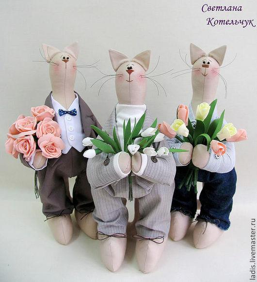 """Куклы Тильды ручной работы. Ярмарка Мастеров - ручная работа. Купить Коты. """" Утро 8 Марта """". Handmade."""