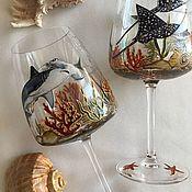 Посуда handmade. Livemaster - original item Wine glasses Coral reefs. Handmade.