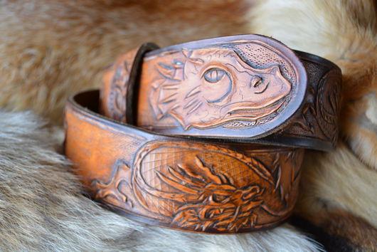 Пояса, ремни ручной работы. Ярмарка Мастеров - ручная работа. Купить Джент классик стиль ремень кожаный Повелитель Драконов. Handmade.