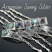 handmade. Livemaster - original item Sapir bracelet made of 925 sterling silver with stones GR0004. Handmade.