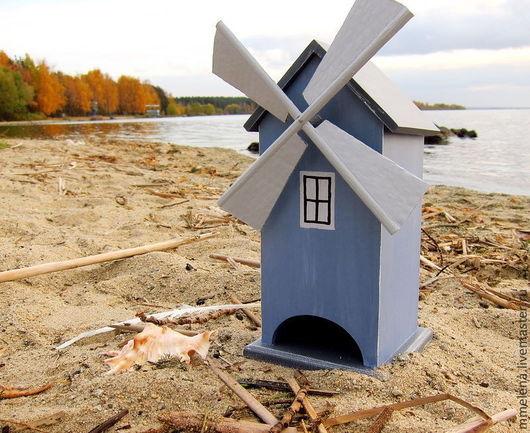 """Кухня ручной работы. Ярмарка Мастеров - ручная работа. Купить Чайный домик """"Ветряная мельница"""". Handmade. Синий, чайный"""